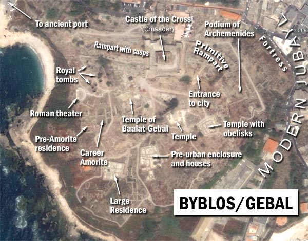 byblos from satellite