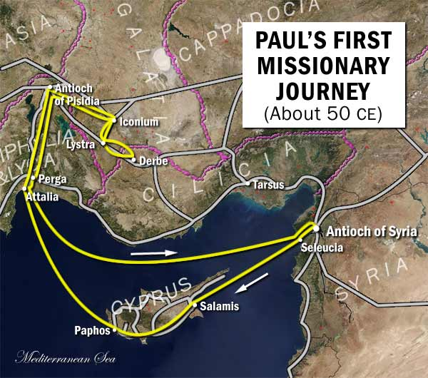 first missionary journey from satellite