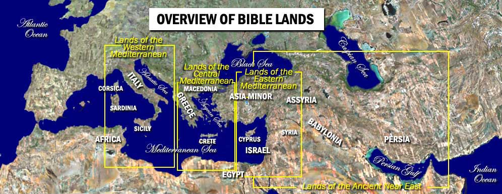 bible lands from satellite