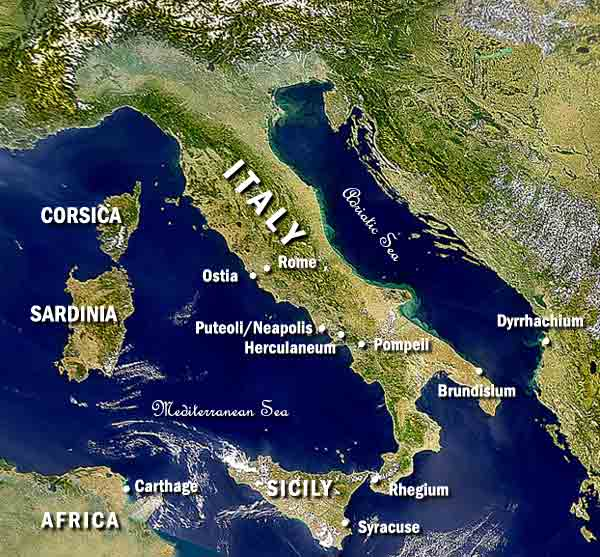 italy from satellite