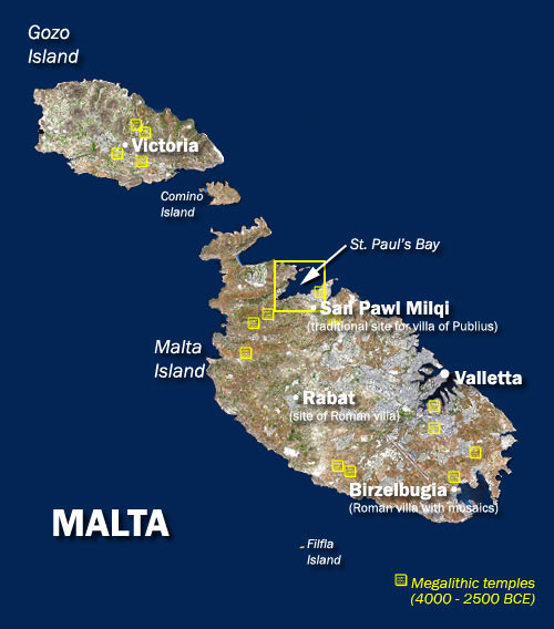 malta from satellite