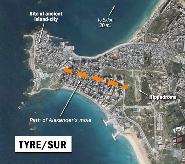 tyre from satellite